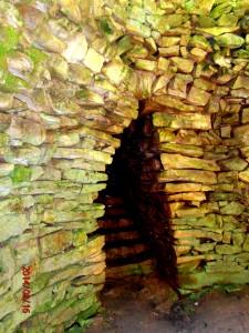 Входът в края на стълбите
